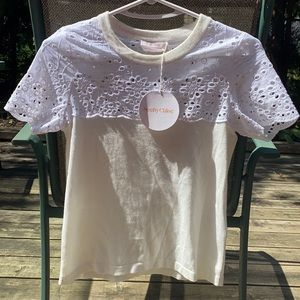 NWT Superb See by Chloe blouse with cotton lace